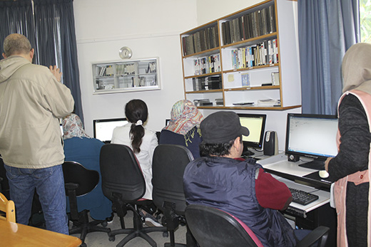 Computer course for visually impaired people at Ein el Elweh